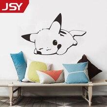 Jiangs Yu 1 PC Pikachu anime Wall Stickers Cartoon Kids Room Wallpaper Children Vinyl Decals