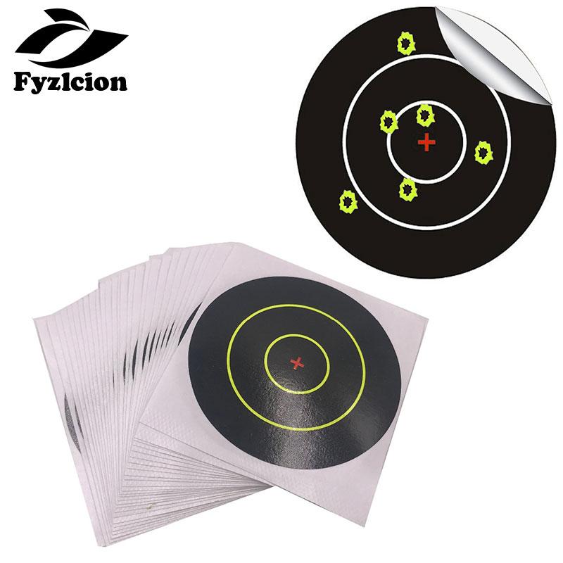 100 Pcs/Pack   Splatter Blossom Target Stickers, Pattern Central Cross, Diameter 3