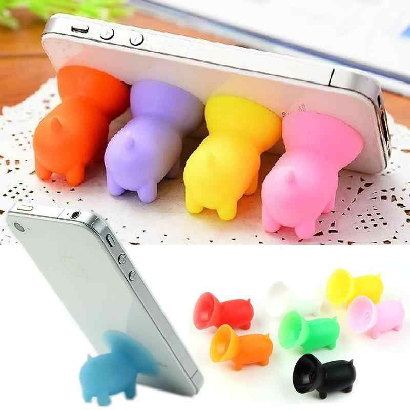 Phone Holder Lovely Suction Cup Mini Pig Phone Holder Universal Mount Stand Socket for IPhone Pad for All Smartphones 1PC