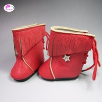 wholesale High boots Shoes for Dolls 18 inches 45cm American Girl baby born doll accessories for dolls