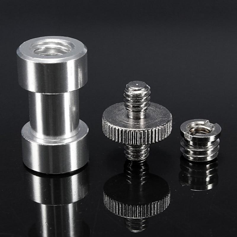 """6-in-1 1/4 """"3/8"""" metāla monopod statīva stiprinājuma skrūvju konvertēšanas adaptera zibspuldzes gaismas statīva savienotājs"""