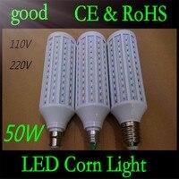 E27 B22 E40 50W 5730 SMD 165 LED Chip Corn Light AC110V/220V Warm/White Bulb Maize Lamp Home Indoor Outdoor street lighting 2pcs