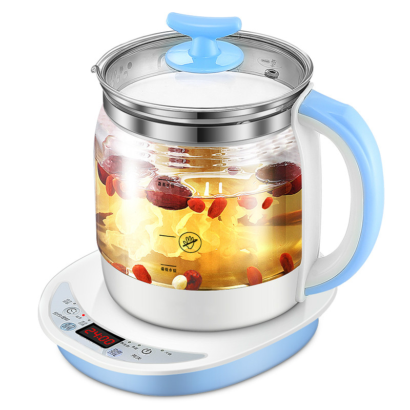 Electric kettle raised pot fully automatic thickened glass boiled flower teapot, multi-functional kettle, tea war electric kettle the glass raised pot is fully automatic and thickened with multi function electric heating flower teapot