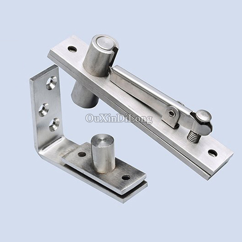 HOT 2Sets Stainless Steel 304 Heavy Duty Door Invisible Hinges Hidden Door Pivot Hinge 360 Degree Rotation Install Up and Down rose gold 180 degree hinge open 304 stainless steel glass shower door hinges for home bathroom furniture hardware hm155