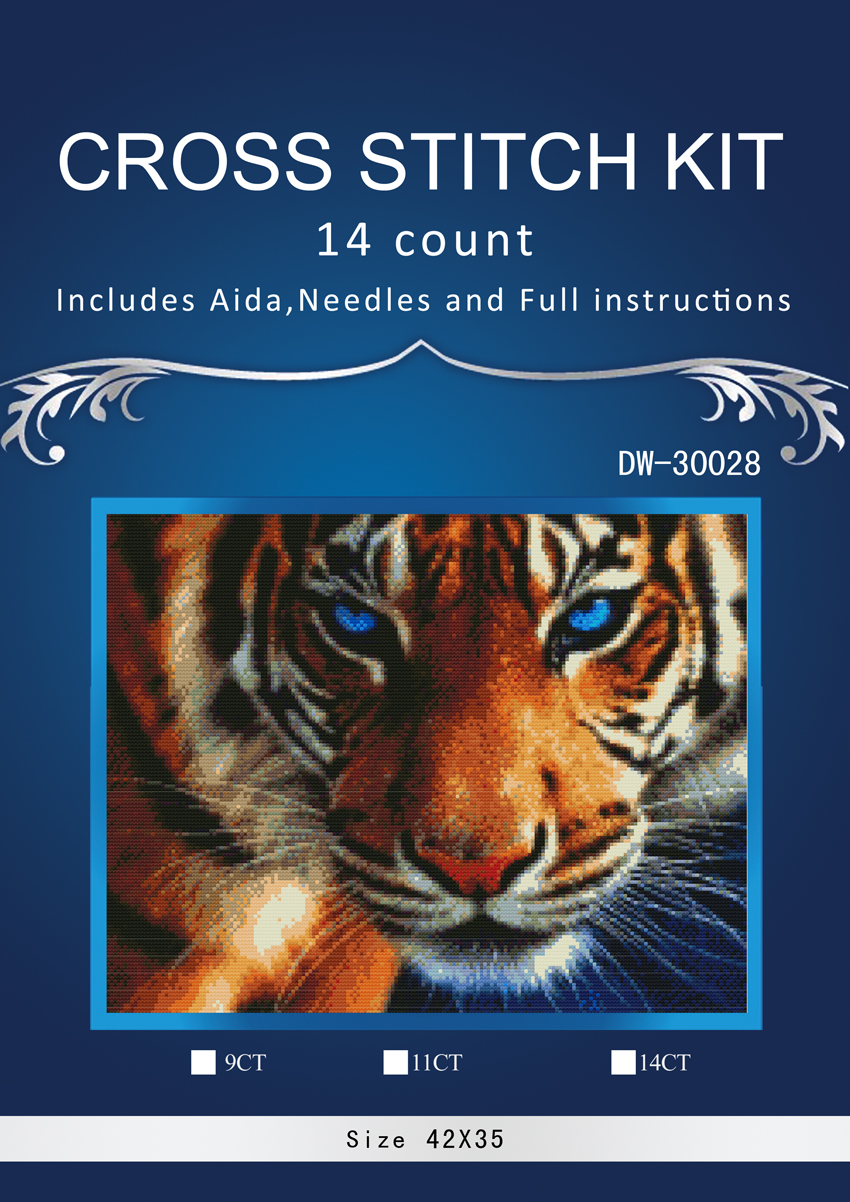 Humble 1tiger 2 Counted Cross Stitch 14ct Cross Stitch Set Chinese Cotton Cross-stitch Kit Embroidery Needlework Similar Dim Anchor Pleasant To The Palate Patterns Arts,crafts & Sewing