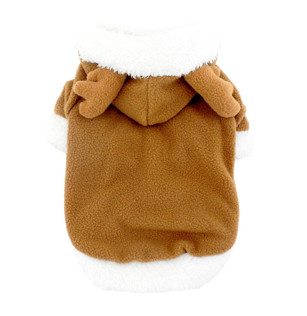 ộ_ộ ༽2017 pequeño mono mascota perro gato ropa polar Reno traje de ...