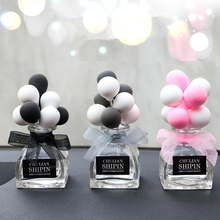 1 Piece Car Styling Balloon Glass Bottle Perfume Without Liquid Cute Cartoon Clay Ornament