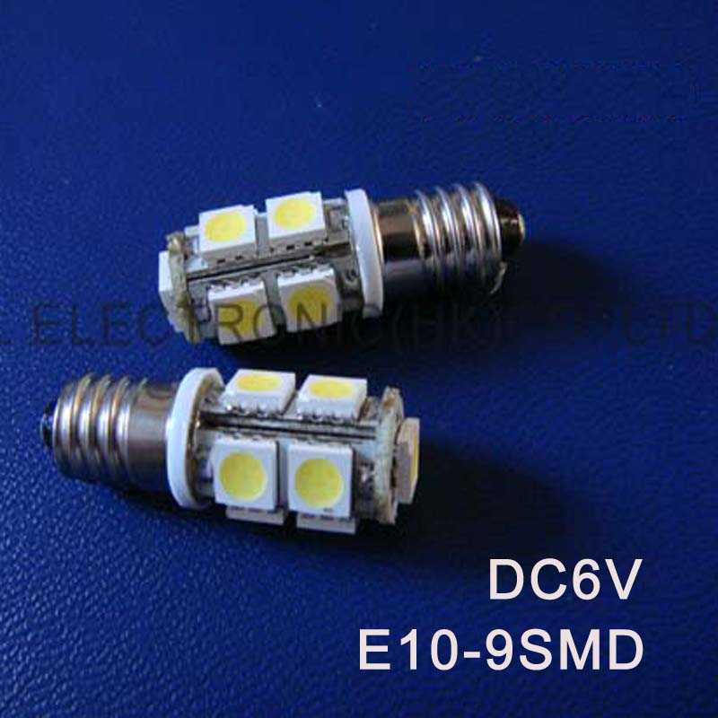 High quality DC6.3V 6V E10 Led Warning Signal,Indicating Lamp,Pilot lamp,Instrument Light,pinballs Bulb free shipping 50pcs/lot image