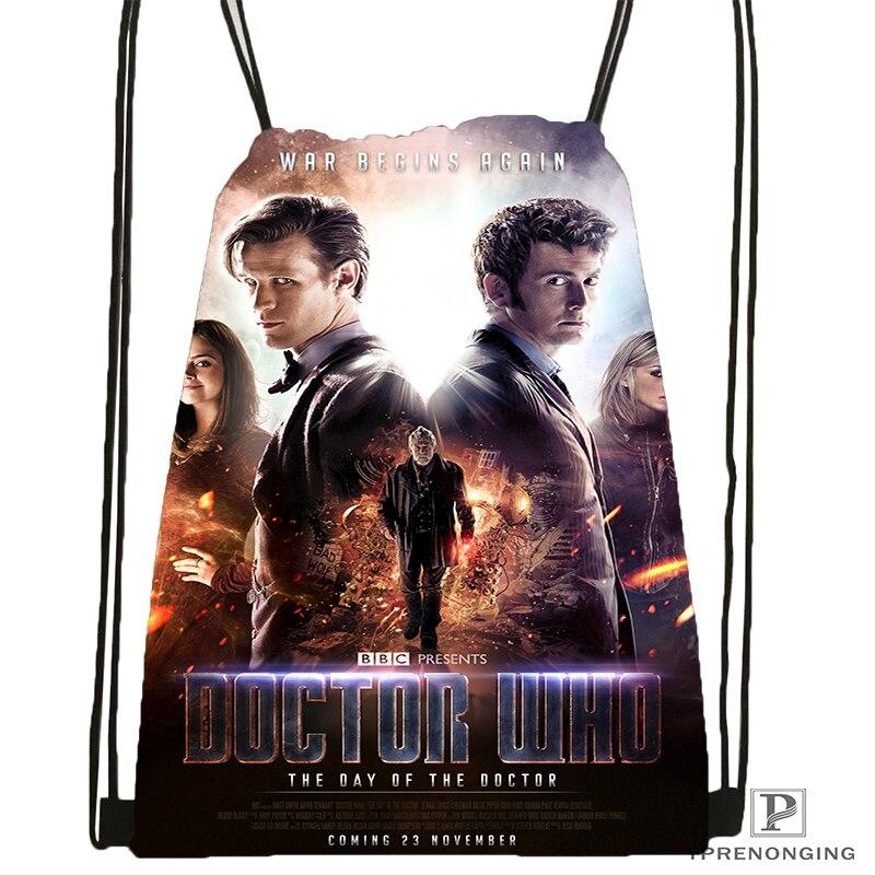 Custom Doctor Who Drawstring Backpack Bag For Man Woman Cute Daypack Kids Satchel (Black Back) 31x40cm#180531-01-10