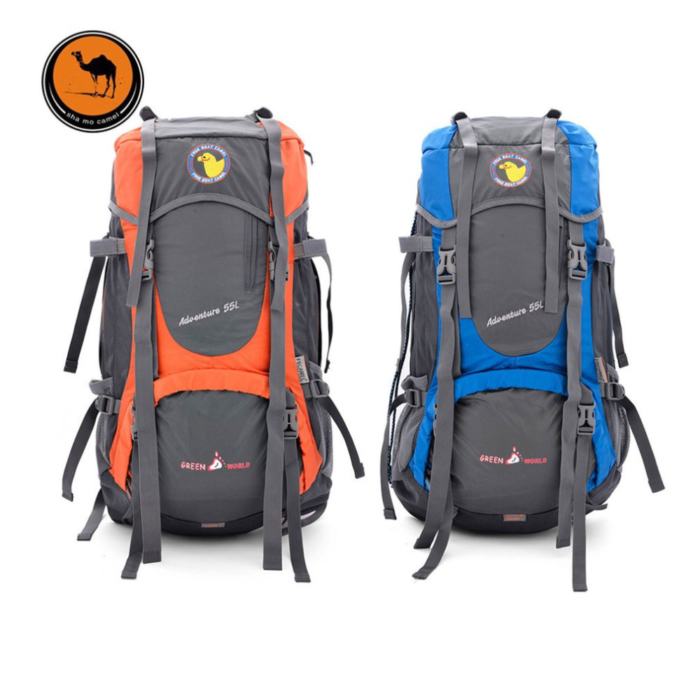 цена на 55L Large Capacity Outdoor Backpack Camping Climbing Bag Waterproof Mountaineering Hiking Backpack Unisex Travel Bag Rucksack