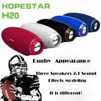 HOPESTAR H20 Rugby Bluetooth Speaker IP5 Waterproof Speakers Subwoofer Bass Stereo MP3 Player Boombox with Power Bank