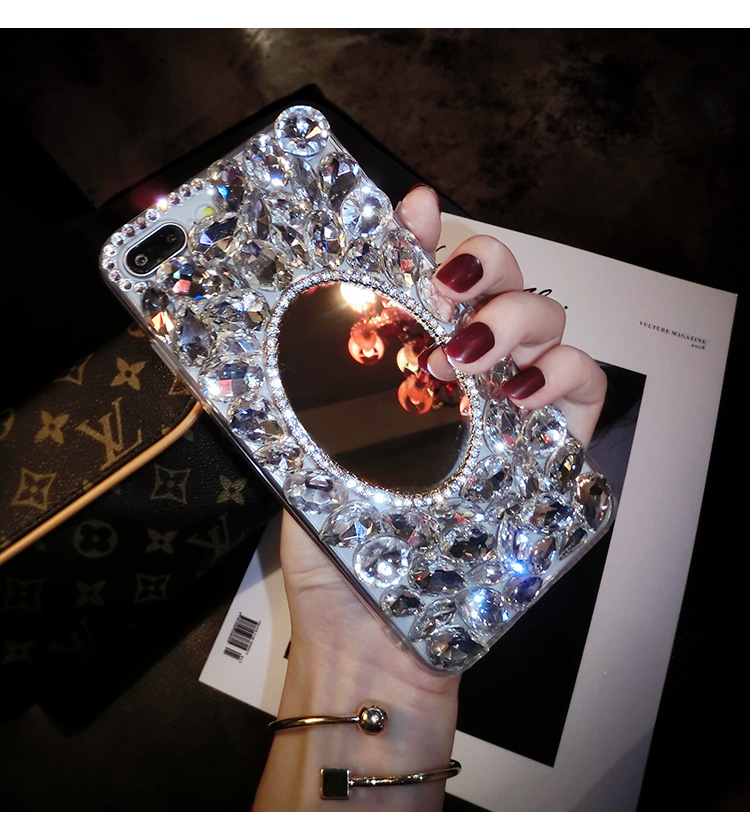 Tokohansun Cases for Iphone XR Case Luxury Cover Bling Rhinestone Case Accessories for iphone XS MAX Hd make-up mirror cover