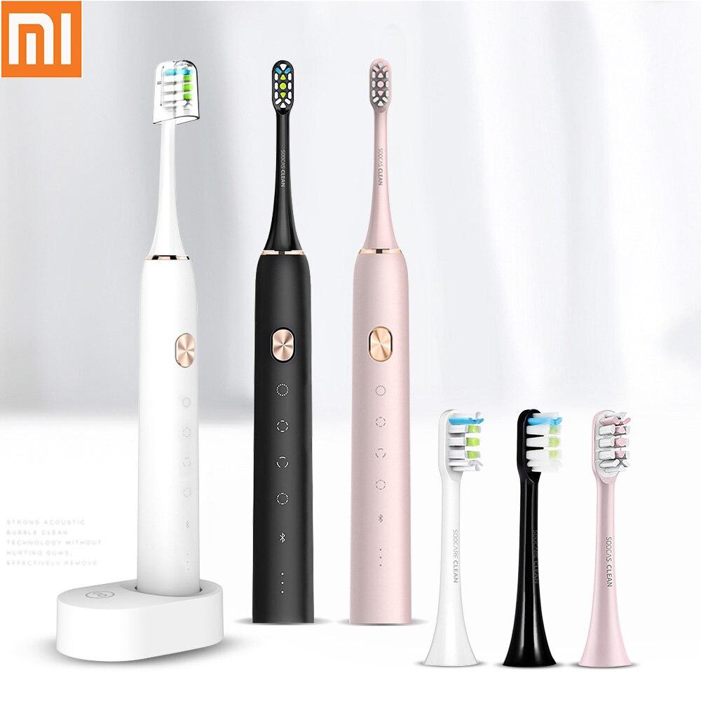 SOOCAS X3 sonic Elektrische Zahnbürste Wiederaufladbare für Xiaomi Mijia Ultra sonic automatische zahnbürste Erwachsene Wasserdichte Ersatz-in Elektrische Zahnbürsten aus Haushaltsgeräte bei  Gruppe 1