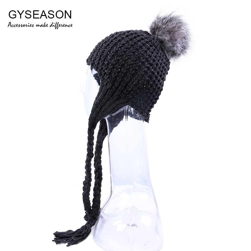 Женска капа Женска крзна Помпом Балл - Одевни прибор