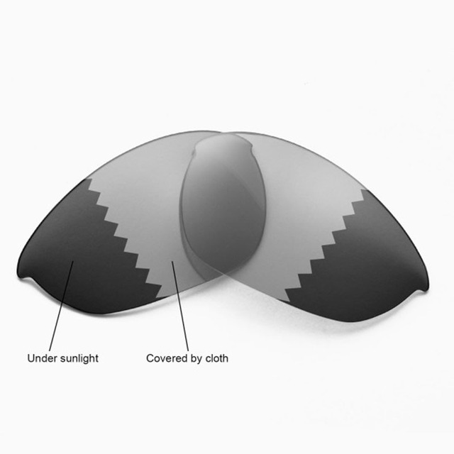 053e5ddce8 Walleva Polarized Transition Photochromic Replacement Lenses for Oakley  Half Jacket Sunglasses