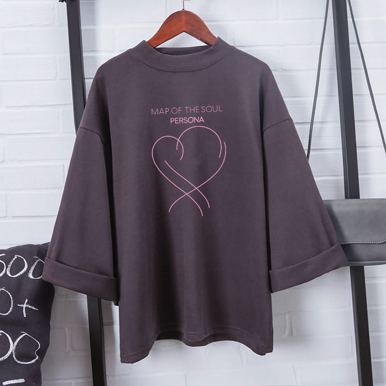 kpop Album Map of the soul persona Jimin short-sleeved   T  -  shirt   kpop Bangtan jungkook Love heart tshirt harajuku   shirt   tops