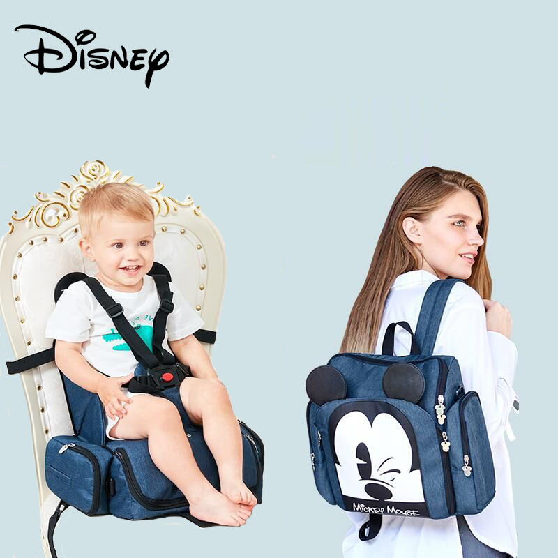 Disney Dining Chair Bag Multifunctional Diaper Bag Waterproof Mother Handbag Nappy Backpack Travel Mummy Bags 2019 New Stlye
