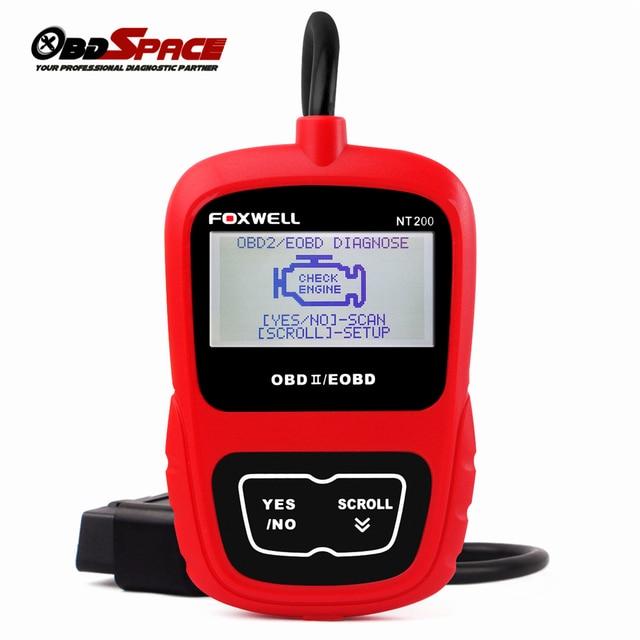 100% Original FOXWELL NT200 Universal OBD2 OBD CAN EOBD Automotive Scanner Car Diagnostic Scanner Code Reader Engine Analyzer