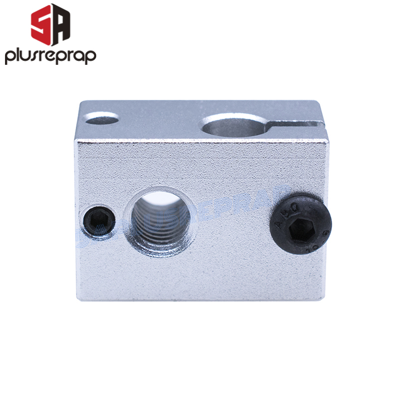 3D Printer V6 Upgraded Aluminum Block For Thermistor HT-NTC100K Thermocouple V5 V6 J-head Hotend Extruder