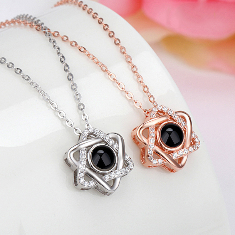 Romantic-100-Languages-I-love-you-Projection-Necklace-Rose-Gold-Silver-Zircon-Star-Pendant-Necklace-Wedding (4)