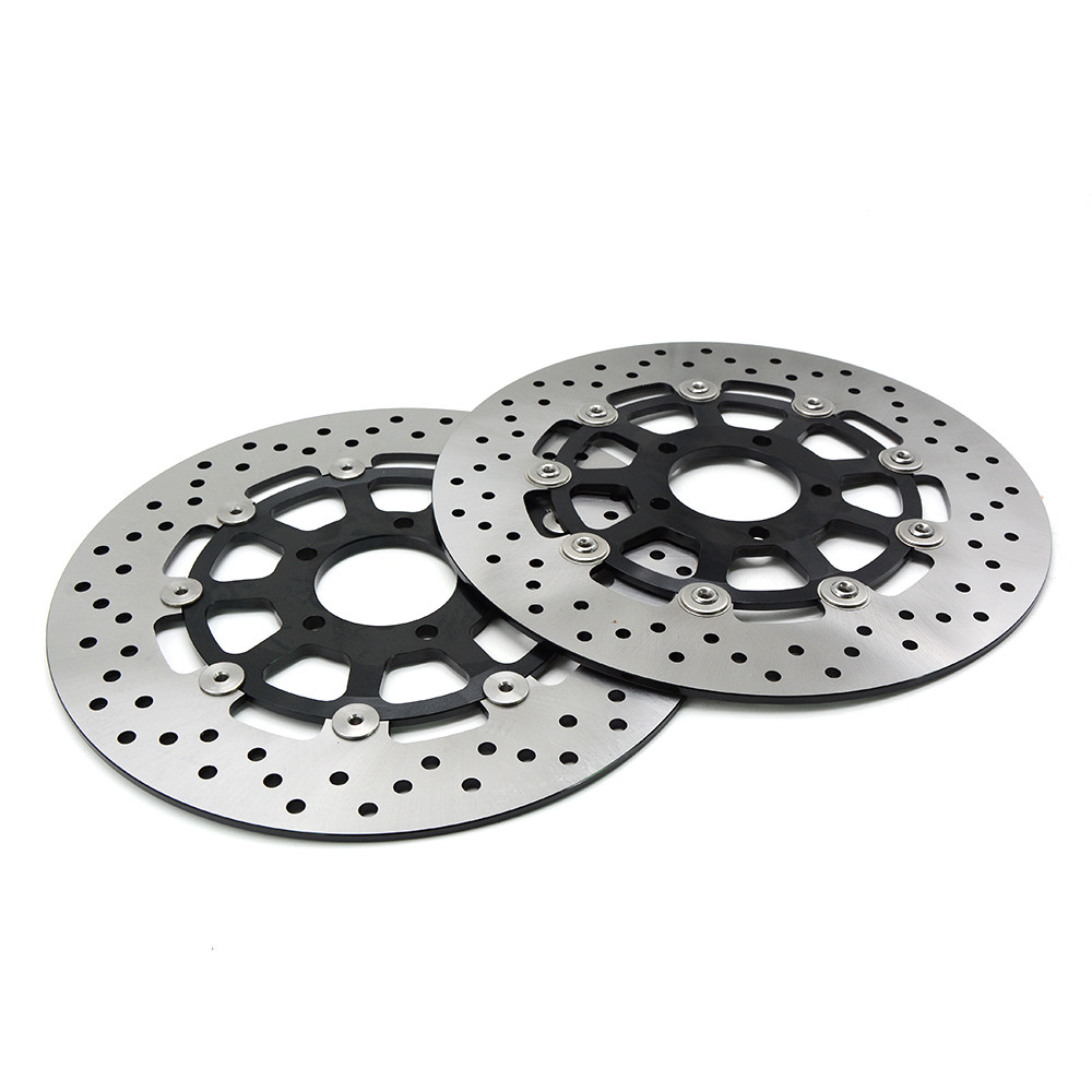 2PCS For Suzuki GSXR1000 2000 - 2003 GSXR1300 HAYABUSA1300 1999 - 2007 Motorcycle Front Floating Brake Disc Rotor GSXR 1000 1300 black headlight for suzuki hayabusa 1300 gsx1300r 1999 2007 front brand new motorcycle clear light lamp from china