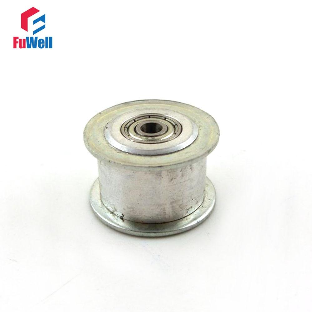 2pcs 3M 20T Timing Idler Pulley 11/16mm Belt Width Bearing Synchronous Gear Wheel No Teeth 3/4/5/6mm Inner Bore Idle Belt Pulley