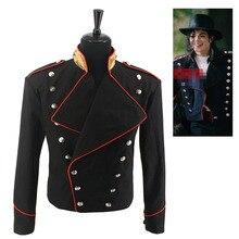 Редкий MJ Майкл Джексон красный и черный военный английский стиль неформальная крутая куртка верхняя одежда