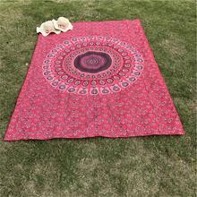 Горячее предложение Индийский Мандала гобелен хиппи цветок Павлин Home Декоративное Настенное подвесное коврик для пляжа Богемия Коврик для йоги покрывало