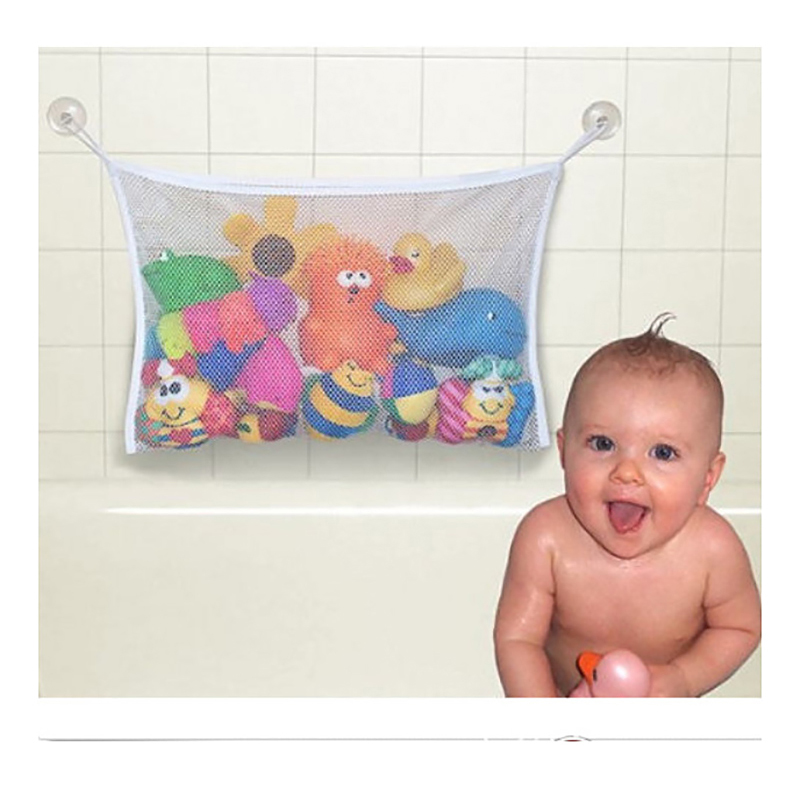 Different Sizes Baby Net Mesh Bag Bathtub Doll Organizer Suction Bathroom Toy Swimming Pool Water Toys