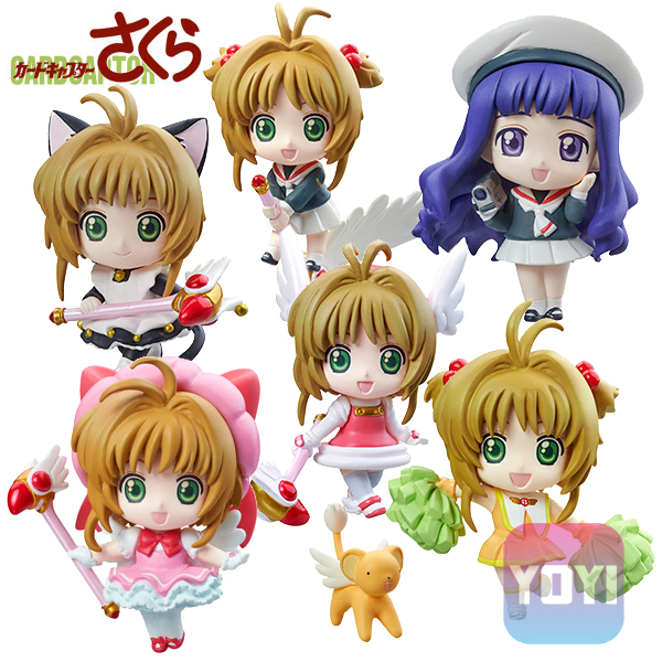 Anime Card Captor Sakura Mini Figures Kinomoto Sakura Daidouji Tomoyo PVC Action Figures Toys Cardcaptor 1pc Send In Randomly