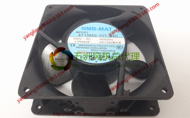 NMB-MAT 4715MS-10T-B40, B00 AC 100V 14W, 120x120x38mm Server Square fan vlampo squishy layer birthday cake slow rising o riginal packaging box gift collection decor toy for children kids