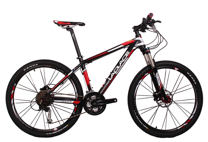 Envío rápido 26 pulgadas 27 velocidad de bicicleta de montaña de doble disco de