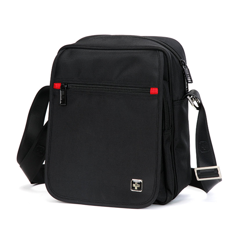 Swiss Fashion Brand Men Shoulder Bag Small Black Messenger Daily Phone Quality Waterproof Nylon Flap Zipper Crossbody On Aliexpress Alibaba
