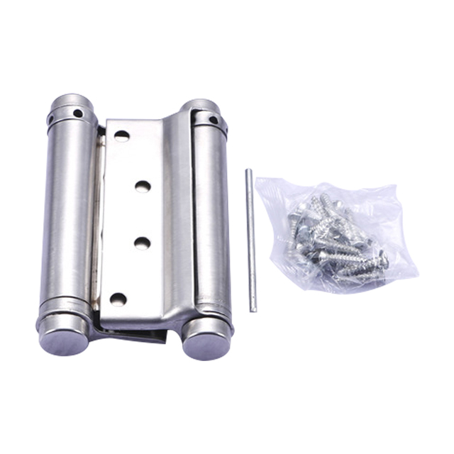 6 Inch Stainless Steel Double Action Concealed Door Silver Spring Hinges  For Saloon Cafe Door Shop