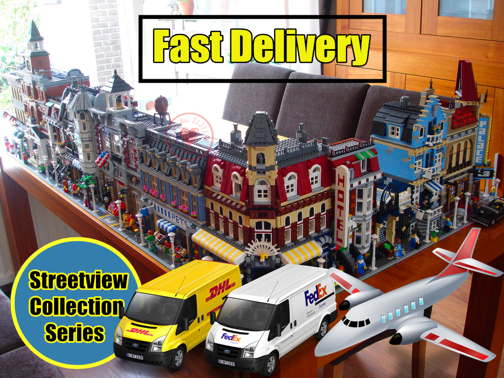New City Series house fit legoings creators city streetview set house figures model building kit blocks bricks kid gift diy toys