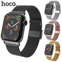 Hoco Milanese Mesh Loop with Magnetic Clasp Stainless Steel Replacement Band Compatible With Apple Watch Series 4 44mm