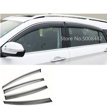 цена на For Suzuki S-cross scross SX4 2014 2015 2016 2017 car cover plastic window glass wind visor rain/sun guard vent frame 4pcs