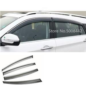 Image 1 - For Suzuki S cross scross SX4 2014 2015 2016 2017 car cover plastic window glass wind visor rain/sun guard vent frame 4pcs