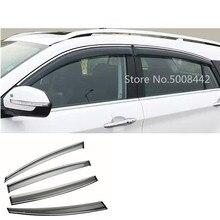 Para suzuki s cross scrus sx4 2014 2015 2016 2017 capa de carro plástico janela vidro vento viseira chuva/sun guard ventilação quadro 4 pçs