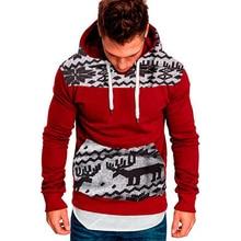 Men Hoodies 2019 Long Sleeve Winter Casual Jackets Hoodies Top Fashion Christmas Deer Tracksuits Sweatshirts Hoody Men Clothes