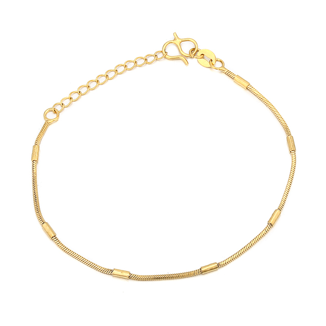 bb1e4595b Simple 1mm Thin Gold Filled Bracelets for Women and Men Bracelets Bangles  Party Gift pulseras