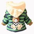 Nova Jaqueta Meninas Do Bebê Urso Dos Desenhos Animados da Panda Do Bebê Manter Quente de Algodão Com Capuz Casaco de Inverno Meninas Crianças Outwear Crianças Roupas Casuais