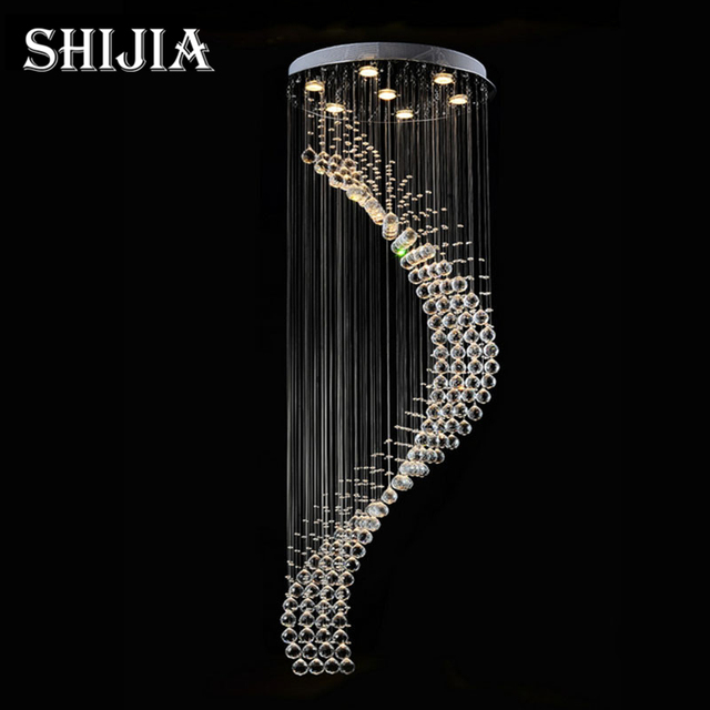 Spiegel Treppen moderne k9 kristall gu10 led spiegel edelstahl kronleuchter luxus