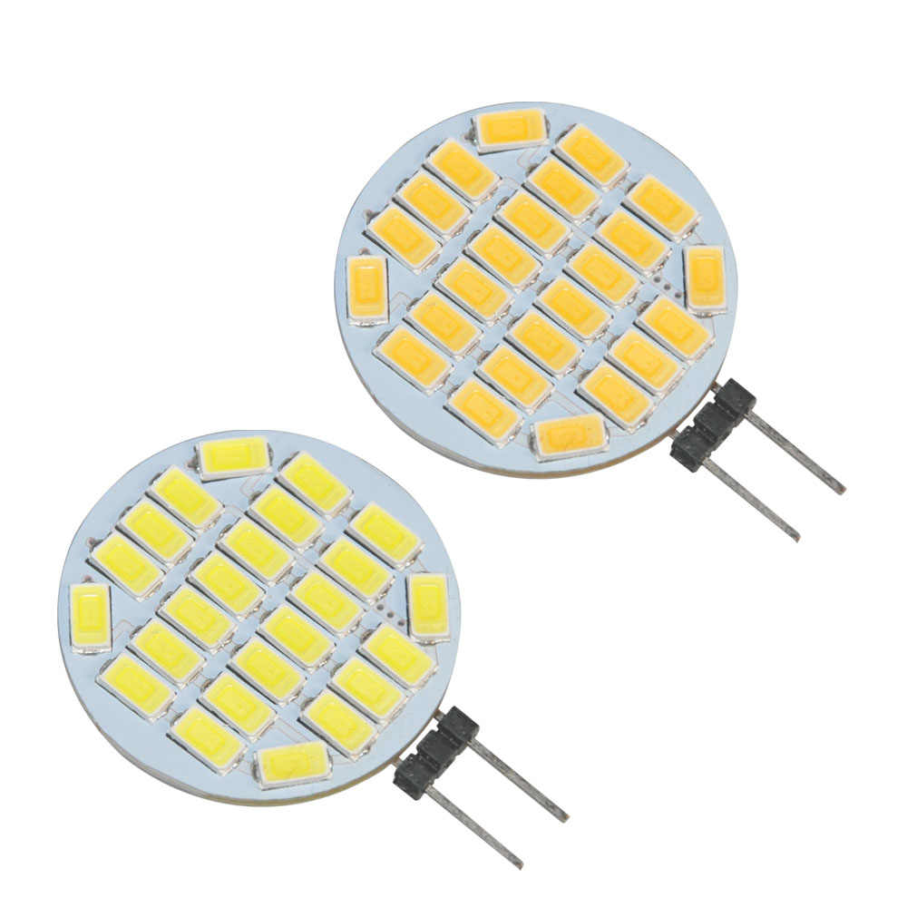 JYL 1 pièces Ultra lumineux G4 Base lumière LED 24 SMD 5730 puce RV Camper pur blanc 3.1 W blanc chaud 360LM
