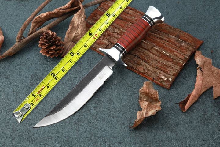 High Quality Outdoor Forge Straight font b Knives b font 5CR15MOV Blade Camp Fixed Blade font