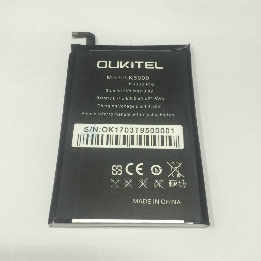 imágenes para 2017 Nueva Batería de Repuesto Para Oukitel K6000 Pro 6000 mAh batería Recargable de Li-Polímero Del Teléfono Móvil baterías de Prueba 100% + Herramientas de reparación