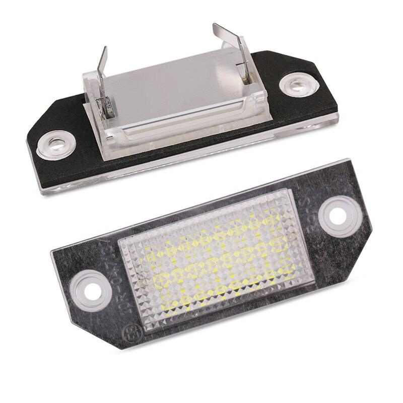 2 pçs/1 par 12 v branco canbus carro led luzes da lâmpada número de licença para ford focus mk2 2003 2004 2005 2006 2007 2008