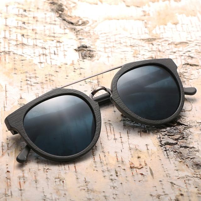 Gafas de son unisex madera modelo clásico filtro UV400 5
