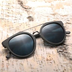 Image 5 - Vintage Acetaat Hout Zonnebril Voor Mannen/Vrouwen Hoge Kwaliteit Gepolariseerde Lens UV400 Klassieke zonnebril