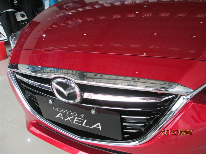 Chrome Front Hood Grill Cover Trim Trims For 2017 Mazda 3 Axela